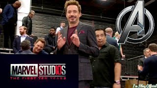 Marvel 10 Year Announcement - All Marvel Actors Photoshoot Video | 2018