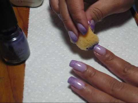 Purple Sponged Gradient Nail Art Tutorial - YouTube, You can see more pics, including with matte topcoat, in this thread: http://mysimplelittlepleasures.blogspot.com/2010/01/notd-purple-sponging-gradient-tutori...