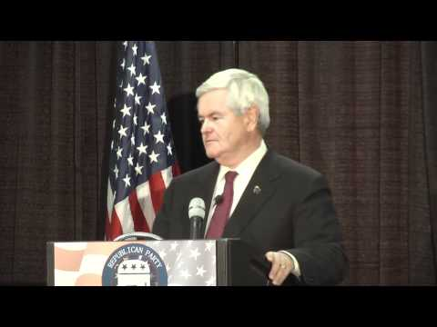 Newt Gingrich speaks at Republican Dinner