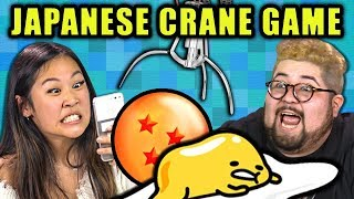 WINNING ON A JAPANESE CRANE GAME | Toreba Crane Game (React)