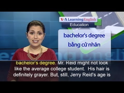Anh ngữ đặc biệt: 70-Year-Old College Student (VOA-Edu)