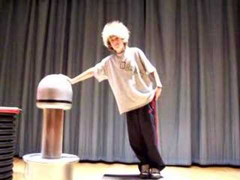 Wild Hair on Van de Graaff Generator