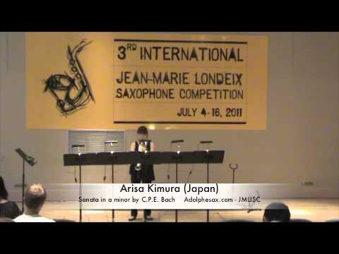 3rd JMLISC: Arisa Kimura (Japan) Sonata in a minor by C.P.E. Bach