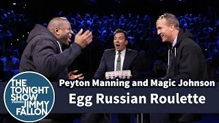 Peyton Manning and Magic Johnson Egg Roulette