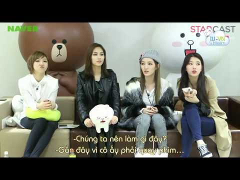 [Vietsub] STARCAST  Line Star Chatting_Suzy's phone call to IU 18/11/2013