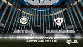 VIVI INTER QARABAG SU INTER CHANNEL