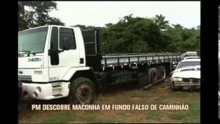 PRF descobre droga escondida em fundo falso de caminh�o apreendido na BR-381