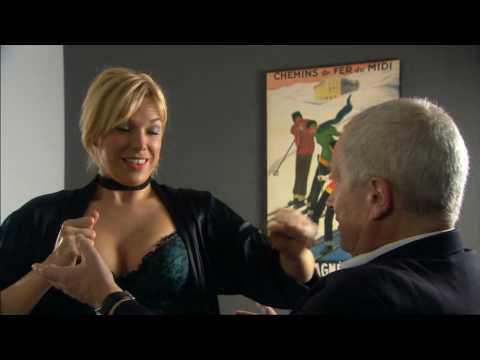 Hannah Waddingham In Fishnet Stockings