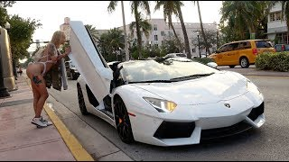 Picking Up Uber Riders In A Lamborghini Aventador!