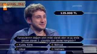 Kim Milyoner Olmak Ister 253. bölüm Efecan Albayrak 23.07.2013