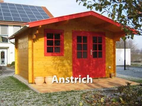 blockhaus aufbau eines gartenhauses einfach und schnell youtube. Black Bedroom Furniture Sets. Home Design Ideas