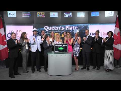 Queen's Plate opens Toronto Stock Exchange, June 30, 2014.