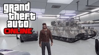 GTA 5 Online How To Save/Insure A Tank In Your Garage