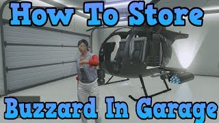 """GTA 5 Online"" How To Store A Buzzard In Your Garage"