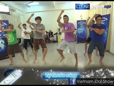 [Vietnam Idol 2012] Hậu trường tập luyện Gangnam Style của Top 8 Nam