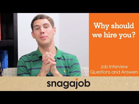 Job Interview Questions And Answers (Part 6): Why Should