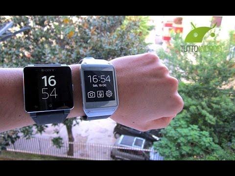 Samsung Galaxy Gear vs Sony Smartwatch 2 il confronto di TuttoAndroid.net