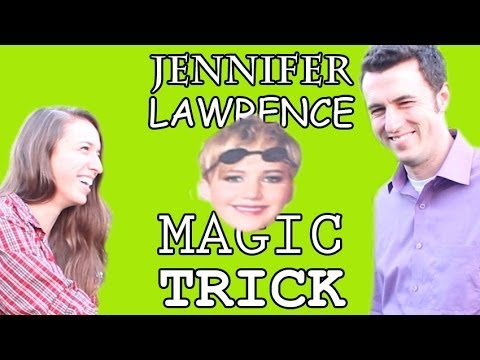 Jennifer Lawrence Magic Trick