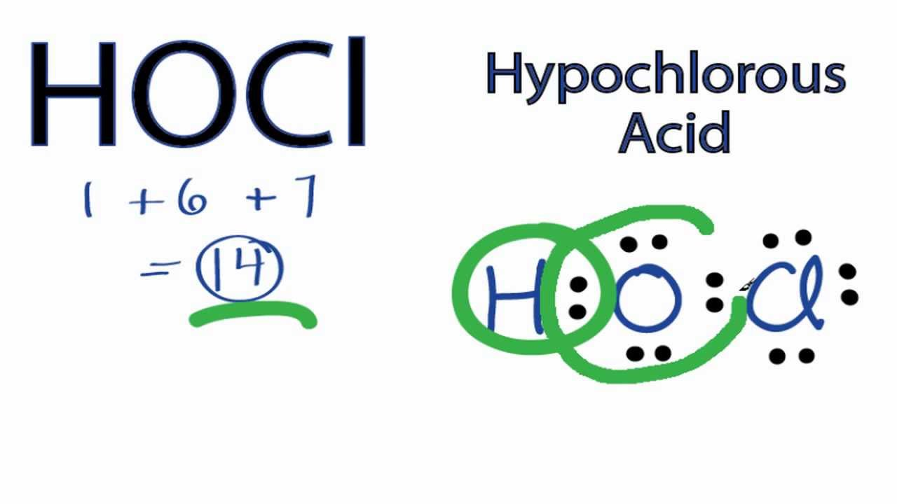 Hocl Lewis Structure  How To Draw The Lewis Structure For Hocl