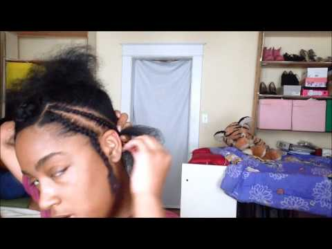 Braid Pattern for a Middle Part Sew In PART 1 | Corinne424