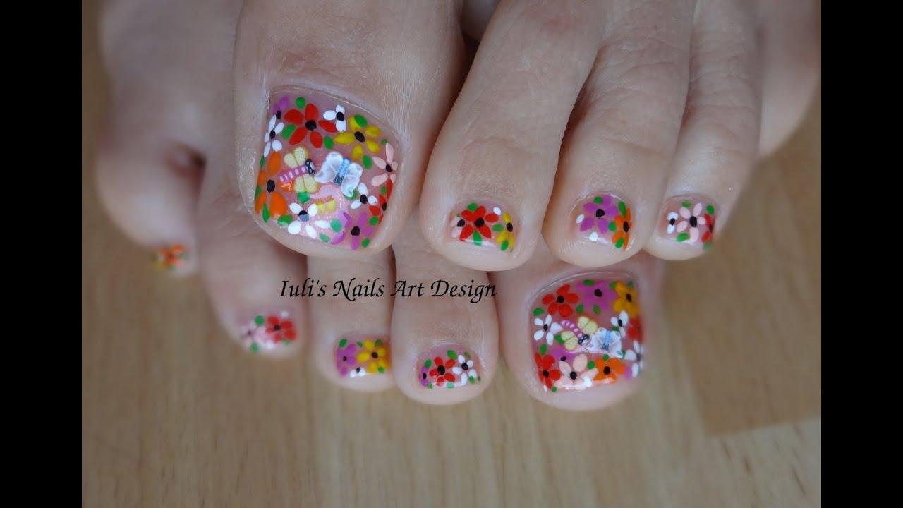 Dorable Toe Nail Art Flowers Component - Nail Art Ideas - morihati.com