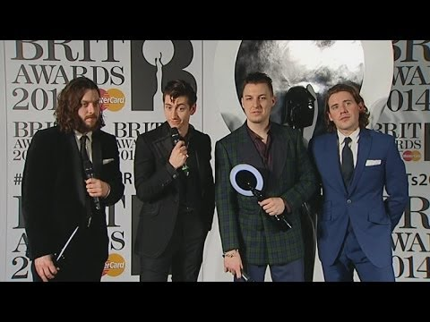 Brits Winners Room: Arctic Monkeys' AWKWARD interview backstage