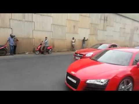 Luxury cars goin for delhi annual auto expo