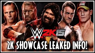 WWE 2K15 2K Showcase NEW Match Types, Full Match List