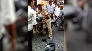 WATCH : Drama of a drunken police man