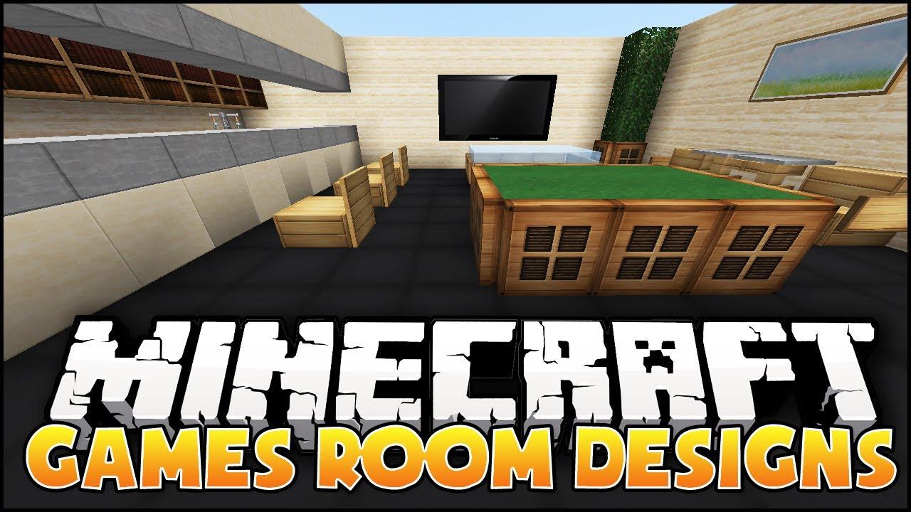 Minecraft Games Room Designs Amp Ideas Youtube