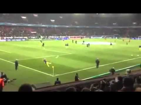 Messi Alves warm up PSG 2-2 FCB