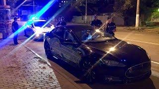 Полиция Tesla на встречке и мусорской жополиз. ORJEUNESSE.