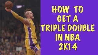 How To Get A Triple Double In NBA 2K14 : : Points, Assists