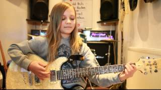 10 year old Zoe Thomson plays Hail To The King by Avenged Sevenfold