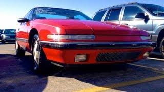 1989 Buick Reatta Start Up, Quick Tour, Rev, & Exhaust, 109K