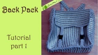 DIY: How To Crochet A Backpack With Aluminum Pop Tabs Part