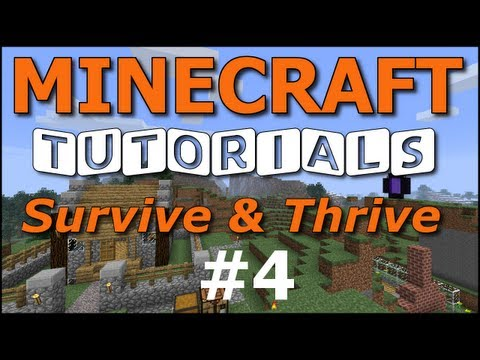 Minecraft Tutorials - E04 Hunger, Food, Cooking (Survive and Thrive II)