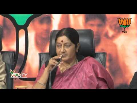 Smt. Sushma Swaraj addresses a press conference about #ChaiPeCharcha