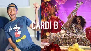 """Cardi B performs """"I Like It"""" Live @ 2018 American Music Awards Performance   REACTION & REVIEW"""