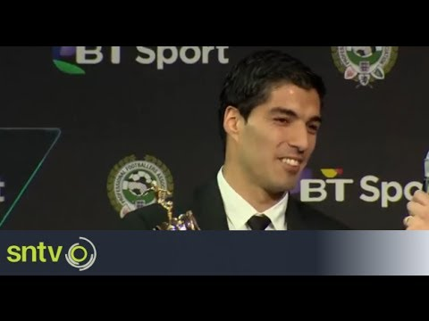 Luis Suarez named PFA Player of the Year [AMBIENT]