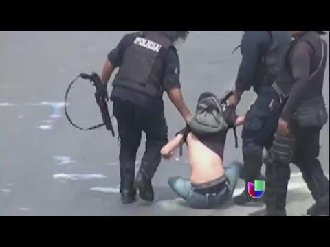 Violencia desatada en Venezuela contra estudiantes y población civil -- Noticiero Univisión
