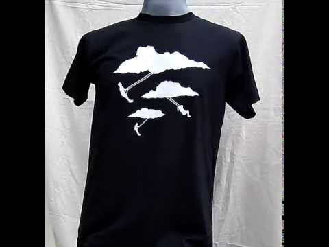 Childrens Innocence Always Swinging from Clouds - Rocky T-Shirt - Black