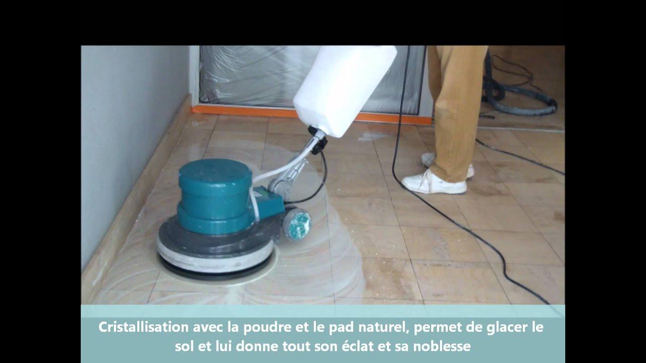 renovation pon age de marbre cristallisation avec le kit 3 disques mpms youtube. Black Bedroom Furniture Sets. Home Design Ideas