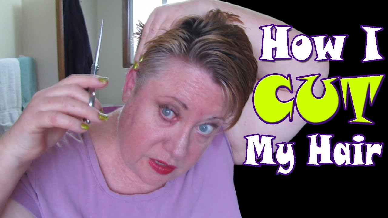 Hair Style Use Your Own Picture : How I Cut my Short Blonde Hair - YouTube