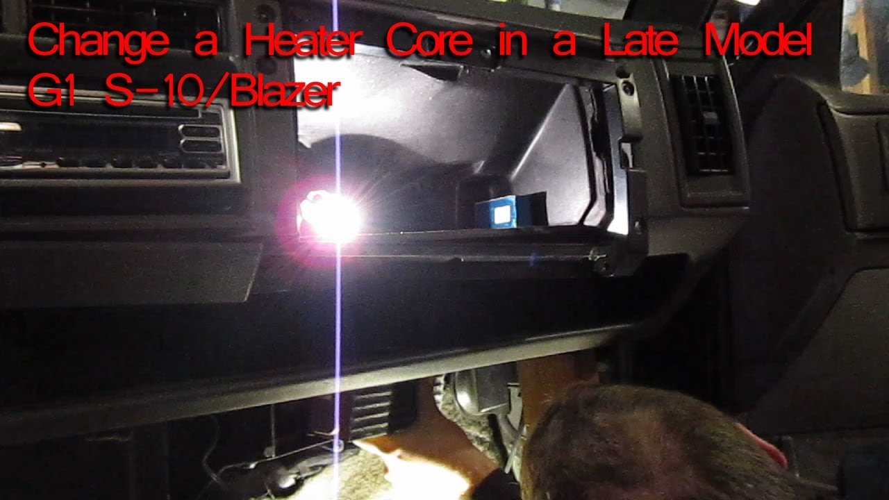 How To Change A Heater Core On A 1994 Chevy S 10 Blazer