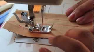 Aprendiendo a usar la máquina de coser