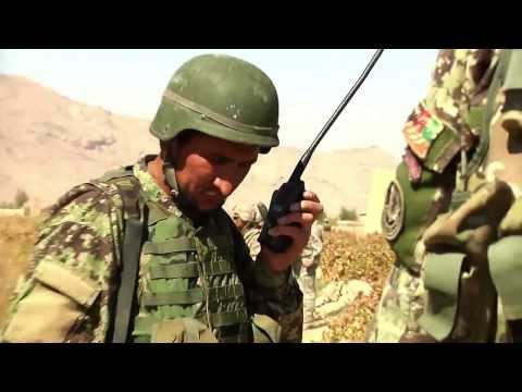 Afghan Soldiers On Patrol in Southern Afghanistan - Afghan National Army