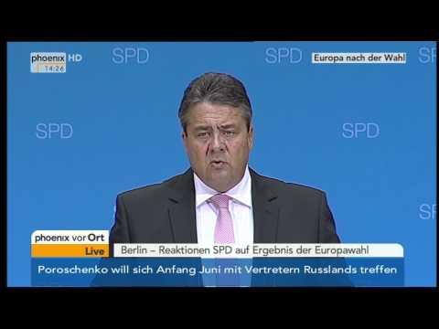 Europawahl - Sigmar Gabriel zum Wahlausgang am 26.05.2014