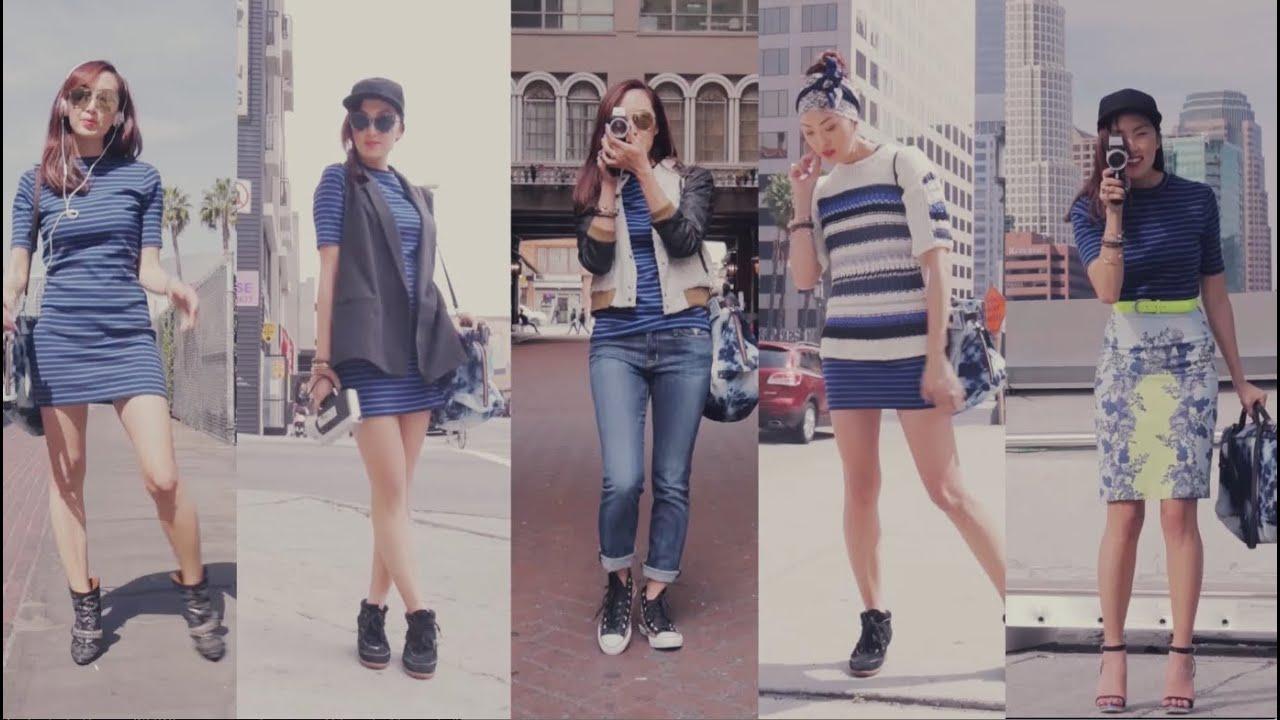 Street Style Fashion 1 Dress 5 Ways Youtube