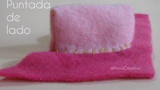 Puntada De Lado /Sobrehilado, costura a mano